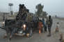 La police fédérale irakienne patrouille à Hammam Al-Alil, au sud de Mossoul, le 7 novembre.