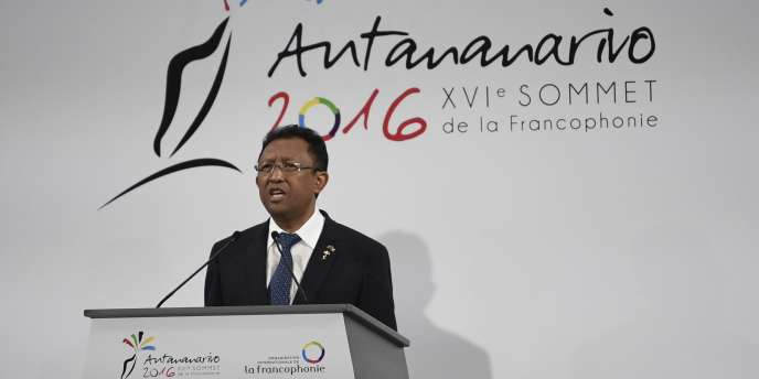 Le président Hery Rajaonarimampianina, le 26 novembre 2016 à Antananarivo.