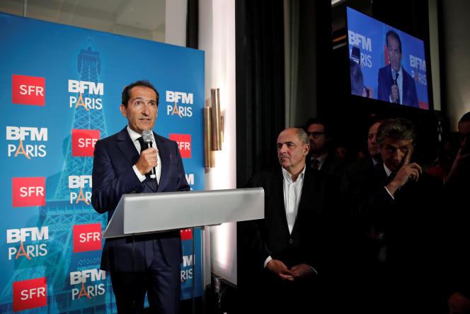 Patrick Drahi, le propriétaire d'Altice, lors d'une rare apparition à Paris le novembre 2016. REUTERS/Benoit Tessier
