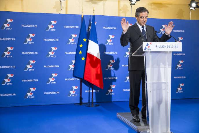 « La victoire me revient, une victoire de fond bâtie sur des convictions depuis trois ans avec mon projet, mes valeurs », a déclaré François Fillon
