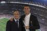Florentino Perez et Cristiano Ronaldo, le 7novembre, au stade Santiago-Barnabeu, à Madrid.