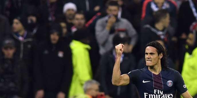 Le joueur du PSG Edinson Cavani, le 27 novembre à Lyon.