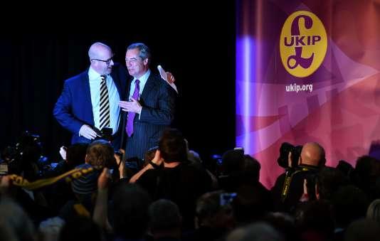 Paul Nuttall (à gauche) et Nigel Farage, le 28 novembre à Londres.