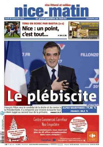 François Fillon main sur le cœur, toujours.