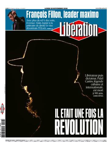 « Libération» a pour sa part préféré mettre en avant la mort de Fidel Castro, tout en n'oubliant pas d'évoquer, dans un clin d'œil,la victoire de M. Fillon.