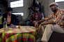 Adama Niane, Eriq Ebouaney, Djedje Apali etVincent Vermignon dans le film français de Jean-Claude Barny,« Le Gang des Antillais».