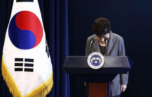 La présidente sud-coréenne, Park Geun-hye, mardi 29 novembre, à Séoul.