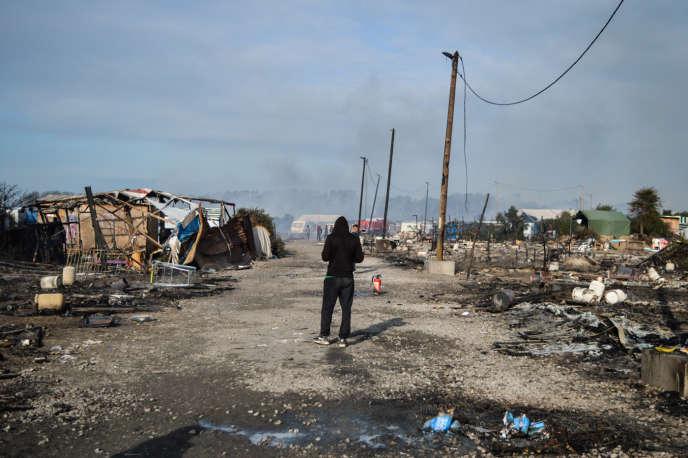 Dans la partie ouest du camp de Calais, le 26octobre 2016.