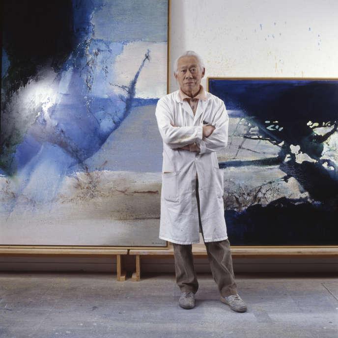 Le peintre Zao Wou-Ki en 1993.