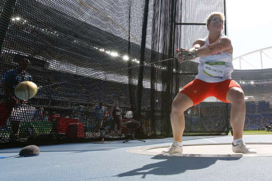 La Polonaise Anita Wlodarczyk, en finale olympique, à Rio, le 15 août.