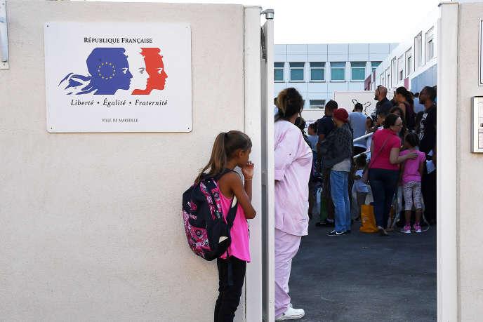 Rentrée scolaire dans une école de Marseille, le 1erseptembre.