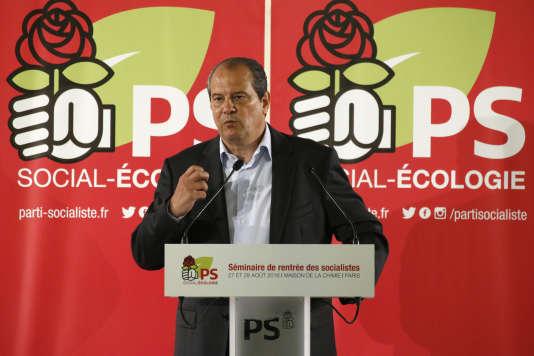 Jean-Christophe Cambadélis, premier secrétaire du PS, le 28 août.