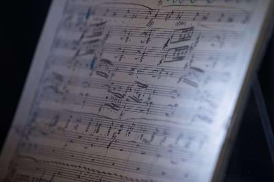 La partition annotée de la main du compositeur autrichien Gustav Mahler.