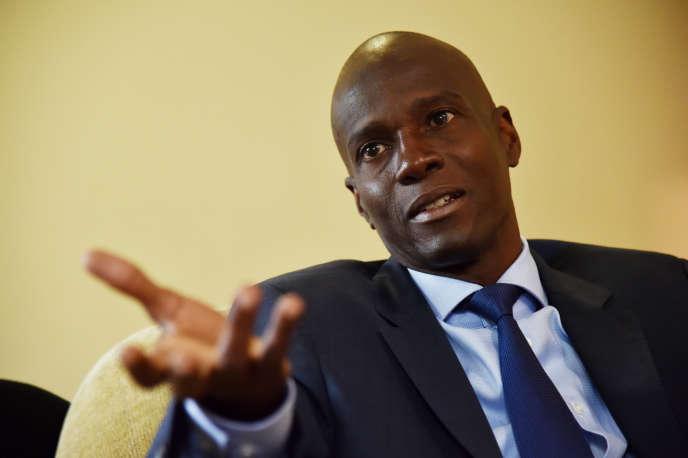 Jovenel Moise, chef du parti politique PHTK à Haiti le 6 septembre.