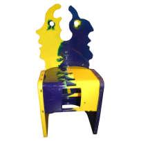 Chaise de la série Nobody's Perfect, co-signée Gaetano Pesce et un ouvrier, éditée par Zerodisegno.
