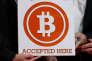 Une affiche bitcoin à Hongkong, le 28 février 2014.