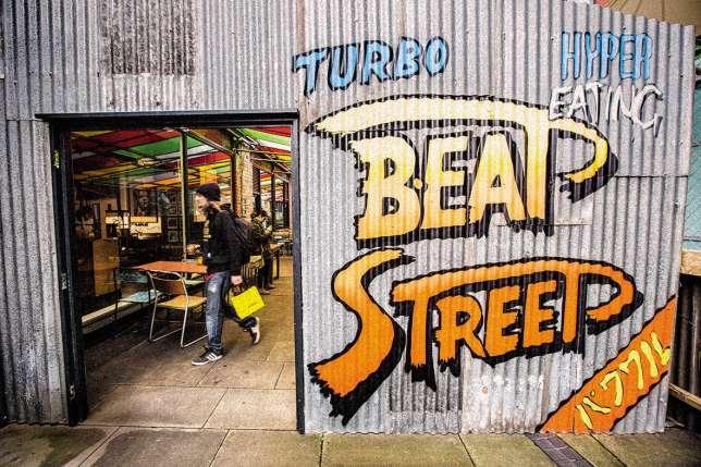 B.Eat Street, repaire alternatif dans une rue qui avait besoin d'être revitalisée.