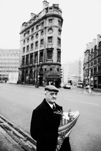 Dans une rue de Manchester, en 1977.