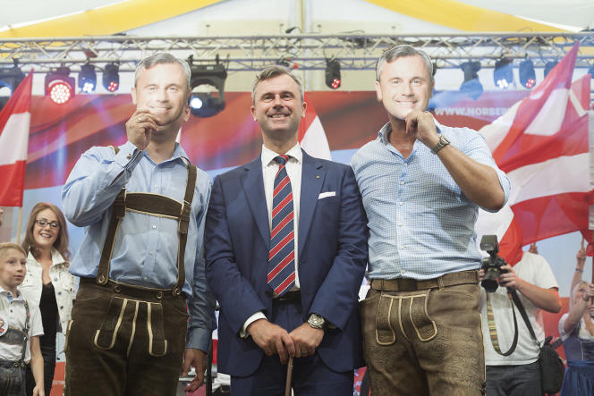 « Cet homme qui porte toujours un pistolet sur lui profiterait d'avoir le vent du populisme en poupe pour détourner sa politique extérieure de l'Europe de l'Ouest et l'orienter vers les Etats de l'Est» (Photo: Norbert Hofer, le 10 septembre, à Wels en Autriche).