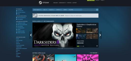 Pour endiguer le piratage jeux vidéo, Steam propose régulièrement des décôtes de 30 %, 40 %, voire 80 % sur les jeux.