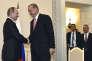 Le président russe Vladimir Putin et son homologue turc Recep Tayyip Erdogan à Saint Petersbourg (Russie) le 9 août 2016.