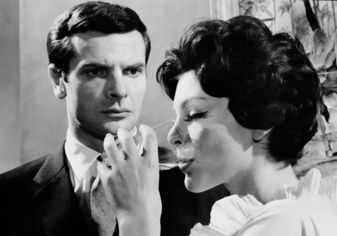 Paul Guers et Francoise Prevost lors du tournage de