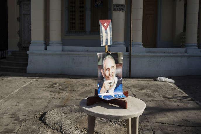 Un hommage à Fidel Castro dans les rues de la Havane, le 28 novembre.