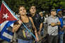 Les cubains rassemblés sur la place de la Revolution pour un dernier hommage à Fidel castro, le 29 novembre.