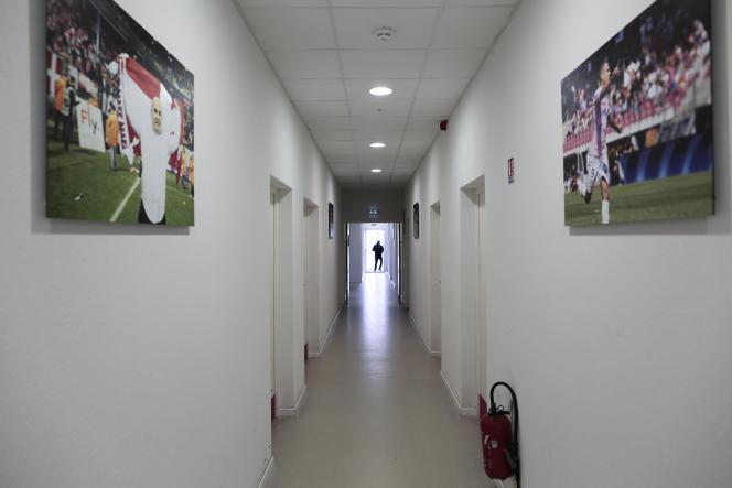 Le centre d'entraînement et de formation d'Evian-Thonon-Gaillard, déserté, en novembre 2016.