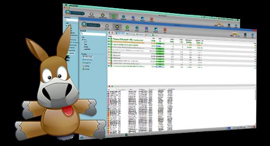 Le logiciel eMule et sa célèbre mascotte.