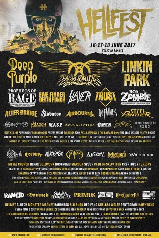 L'affiche de l'édition 2017 du Hellfest.