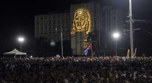 Rassemblement en hommage à Fidel Castro à La Havane le 29 novembre.