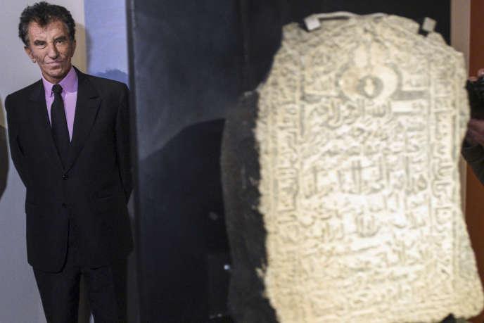 Le président de l'Institut du monde arabe, Jack Lang, lors de l'inauguration d'une exposition à l'antenne de l'IMA à Tourcoing, le 17 novembre 2016.