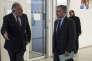 Le président du Sénat, Gérard Larcher, chargé par François Fillon d'assurer le lien avec les organisation syndicales,et Bernard Accoyer, secrétaire général des Républicains, le 29 novembre 2016, au siège du parti, à Paris.