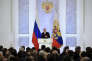 Discours à la nation de Vladimir Poutine, au Kremlin, le 1er décembre.