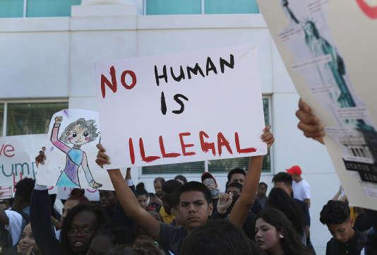 Mobilisation d'étudiants après l'élection de Donald Trump - Floride