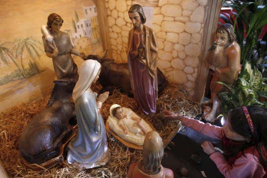 Une crèche de Noël le 23 décembre 2010 au Royaume-Uni.