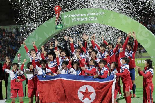 Les Nord-Coréennes ont remporté le 21 octobre 2016 la Coupe du monde des - 17 ans. Samedi, elles disputent la finale des Mondiaux - 20 ans face à la France.