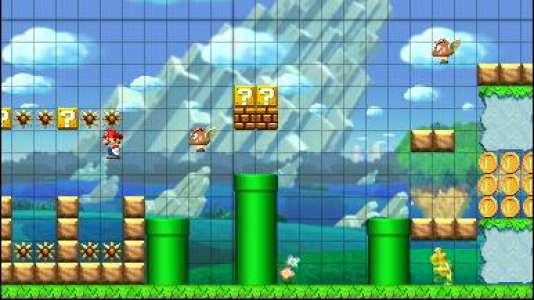 «Super Mario Maker» sur 3DS.