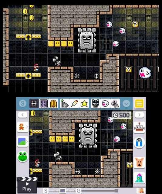 L'interface de création de niveaux.
