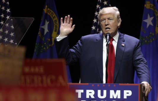 Donald Trump lors d'un rassemblement de campagne à Las Vegas (Nevada), le 30 octobre.