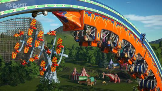 «Planet Coaster» permet de fabriquer des montagnes russes, et convoque le souvenir de «Rollercoaster Tycoon».