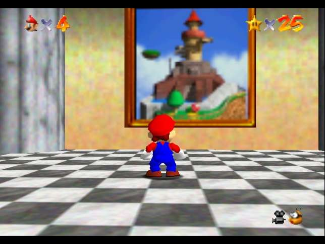 """«""""Super Mario 64""""présente une forme de traversée du miroir.»"""