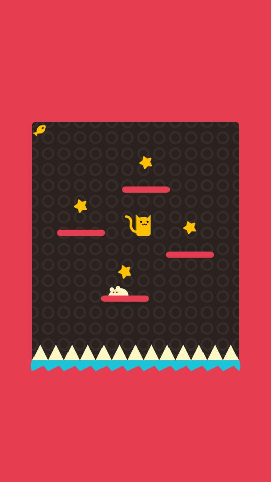 Le jeu de plateforme «Nekosan» est un «one touch game» développé pour iOS.