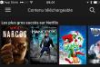Capture d'écran de l'application Netflix. Avec la dernière mise à jour il est désormais possible de télécharger des contenus.
