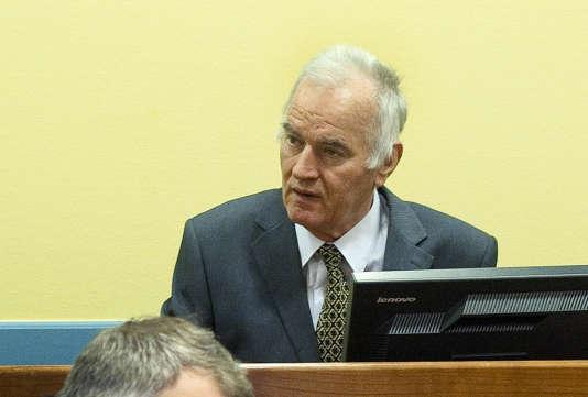 Ratko Mladic, lors de sa première comparution devant le Tribunal pénal pour l'ex-Yougoslavie, à LaHaye, en 2012.