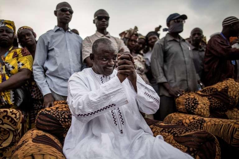 Adama Barrow, 51 ans, candidat de l'opposition unie, avant sa victoire surprise à la présidentielle du 1er décembre en Gambie.