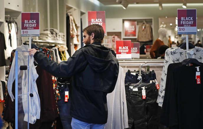 Un magasin H&M à Salt Lake City ('Utah) lors du «Black Friday», le 25 novembre.
