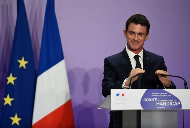Manuel Valls intervenait dans le cadre d'un comité interministériel sur le handicap, ce vendredi 2 décembre à Nancy.