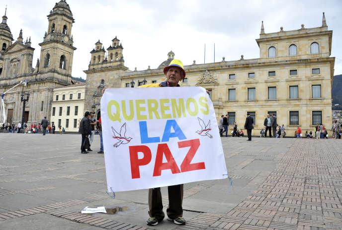 A Bogota, devant le Sénat, le 29 novembre 2016.